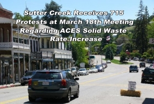 Sutter Creek receives 715 protests over proposed ACES solid waste rate increase