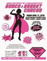 Amador County Bunco for Breast Cancer April 17