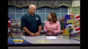 Jackson Lions Club 4th of July Fireworks Sale on AM Live 6-26-13